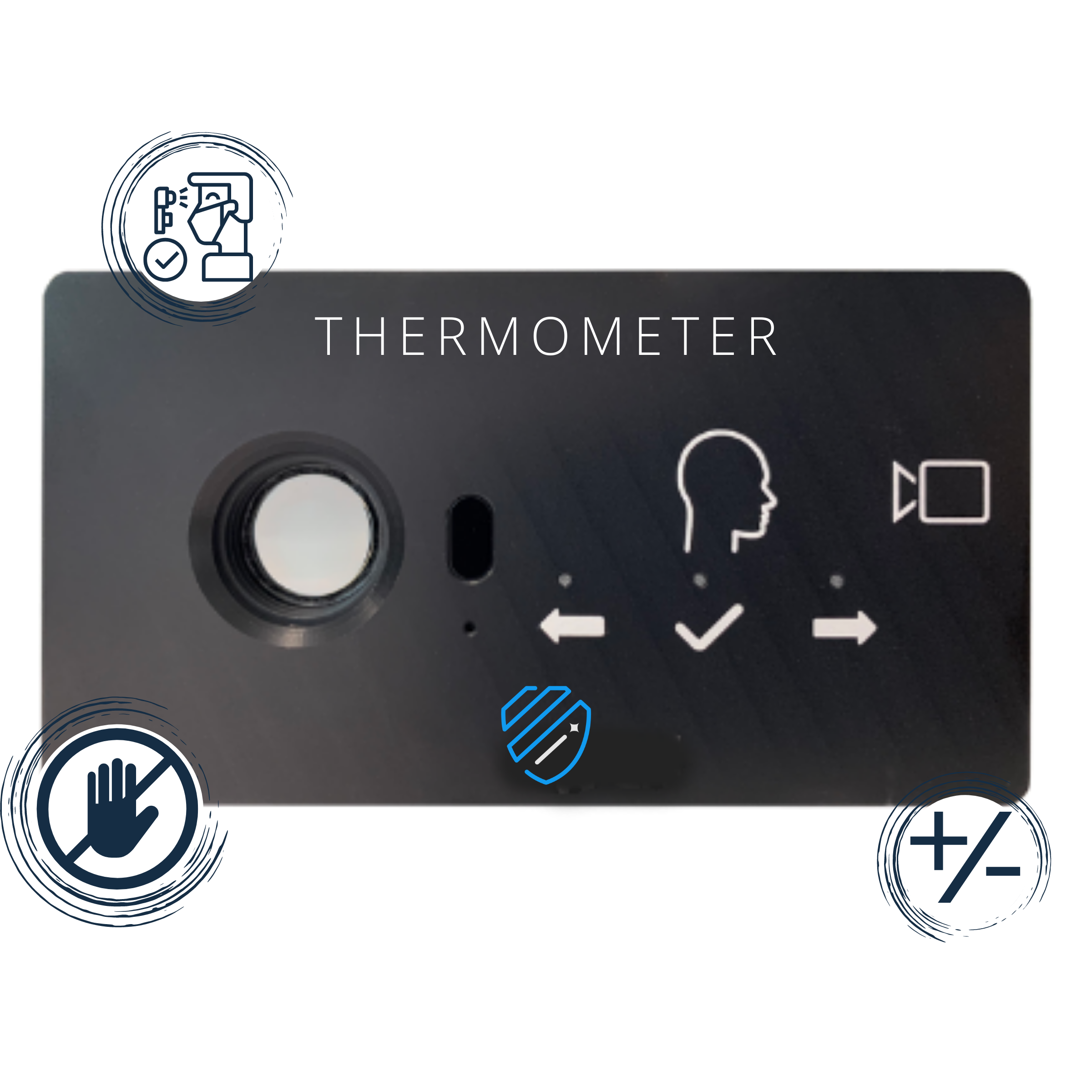 INTEGRATED TOUCHLESS THERMOMETER FOR INDUSTRIAL COMPANIES